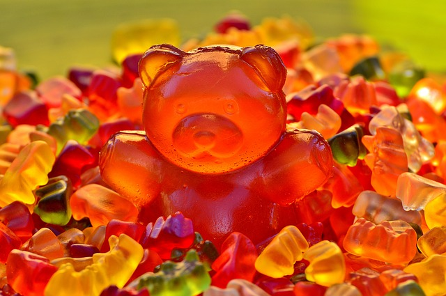 Giant Rubber Bear, Gummibärchen, Colorful, Bear, Sugar