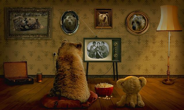 Bear, Teddy, Watch Tv, Coziness, Room, Entertainment