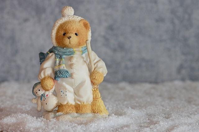 Winter, Bear, Bears, Figure, Decoration, Snowman, Toys