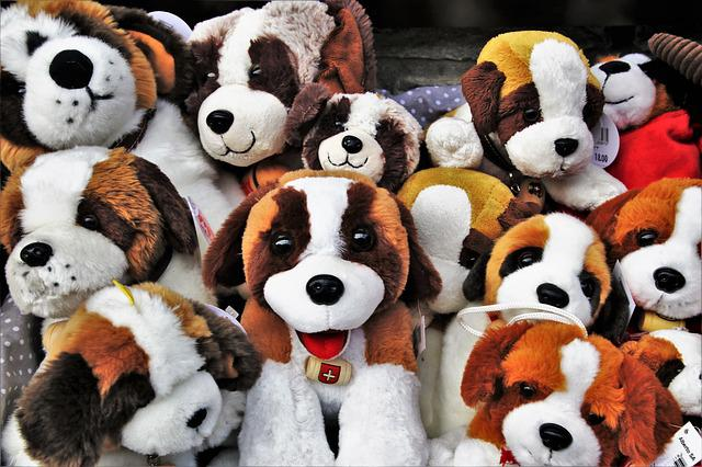 Plush, Bears, Animals, No One, At The Court Of, Doggy