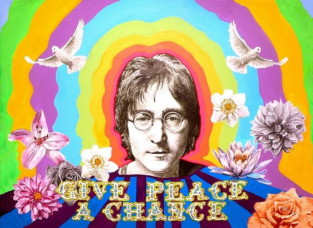 John Lennon, Beatles, Peace, Imagine, Memorial, Flower