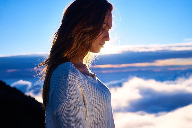 Beautiful, Clouds, Girl, Mountain, Outdoors, Person
