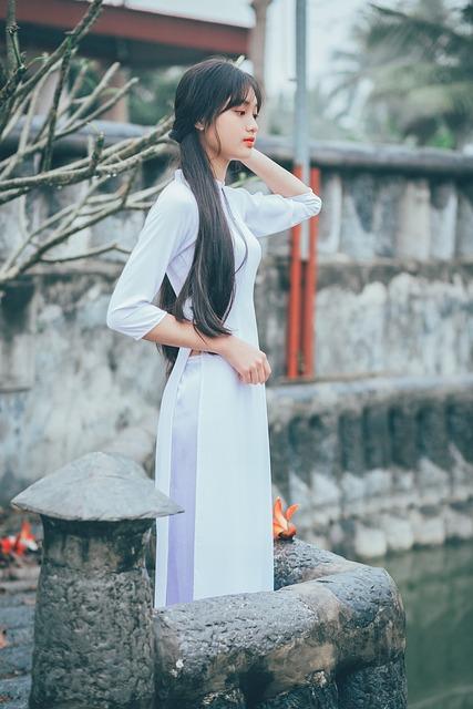 Vietnam, Cute, Girl, Beautiful, Classic, Countryside