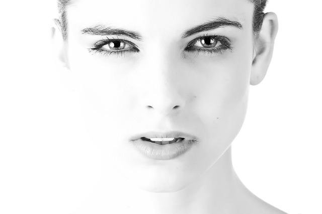 Model, Face, Beautiful, Black And White, Exposure