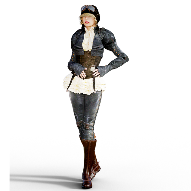 Woman, Steampunk, Fantasy, Isolated, Beautiful