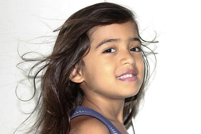 Hair Flying, Beautiful Hair, Child's Hair