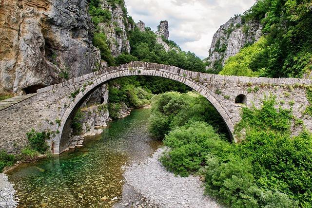 Beautiful Landscape, Bridge, Greece, Ioannina, Stone