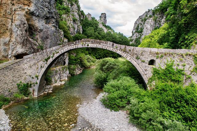 Beautiful Landscape, Bridge, Greece, Ioannina, Stone