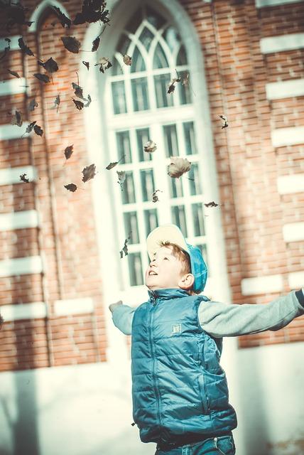 Baby, Boy, Smile, Leaves, Photo, Child, Beautiful