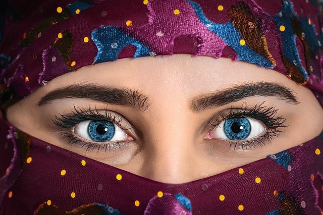 Model, Beauty, Woman, Headscarf, Exotic, Beautiful