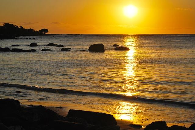 Sunset, Beach, Background, Beautiful, Nature, End, Day