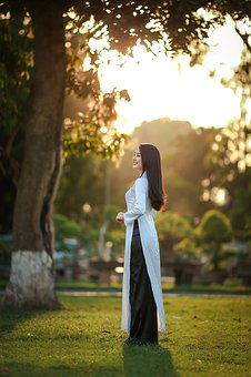 Beautiful, Fashion, Girl, Grass, Outdoors, Park, Tree