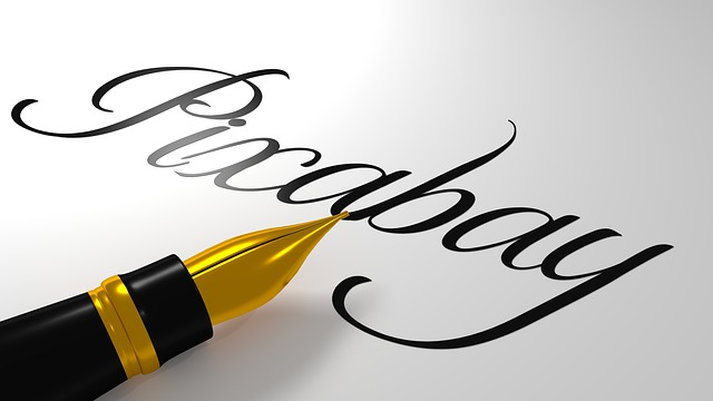 Calligraphy, Beautiful Scripture, Pixabay, Pen, Art