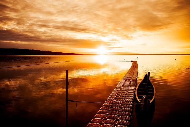 Canada, Sunset, Dusk, Beautiful, Sky, Clouds, Lake