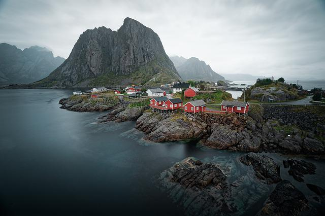 Water, Sea, Houses, Beautiful, Landscape, Scandinavia