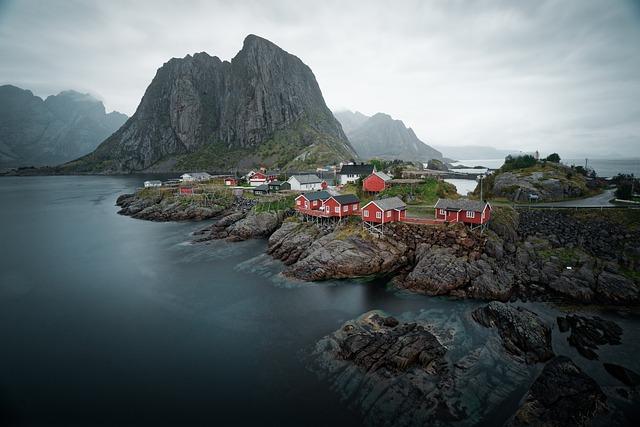 Water, Sea, Houses, Beautiful, Landscape, Scandinavia