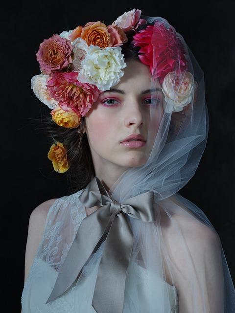 Fashion, Portrait, Veil, Beautiful, Young