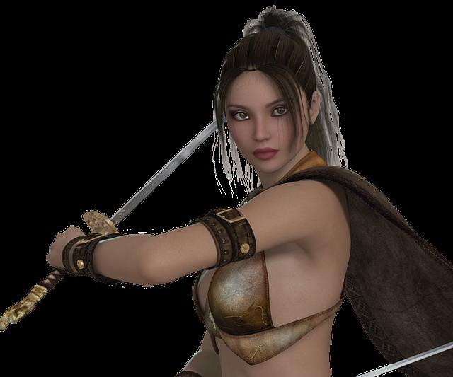 Woman, Warrior, Elegant, Beauty, Determined, Heroine