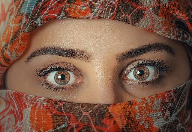 Woman, Veil, Hijab, Headscarf, Eyes, Exotic, Beauty