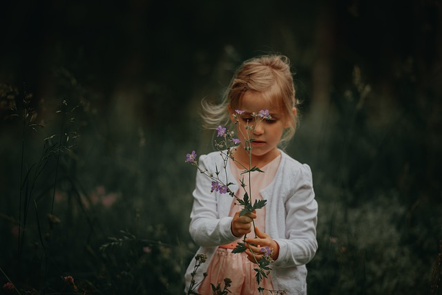 Flowers, Girl, Beauty, Children, Nature, Woman, Happy