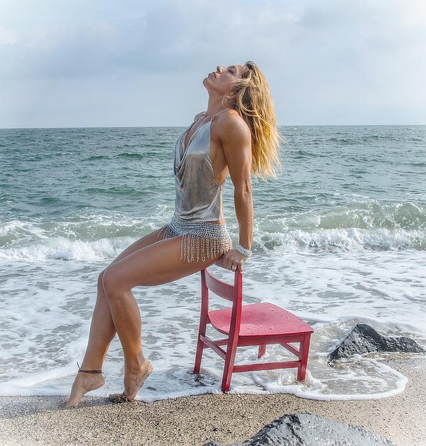 Woman, Beach, Sea, Holiday, Young Woman, Sand, Beauty