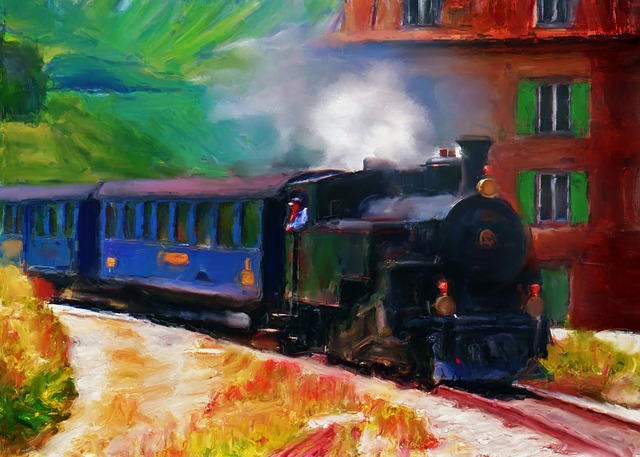 Train, Art, Artist, Landscape, Nature, Beauty, Creative