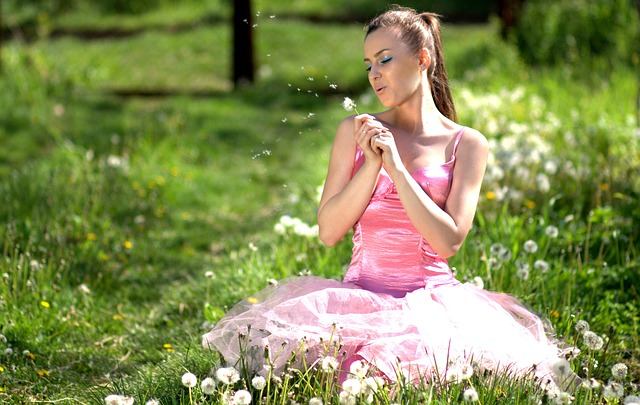 Girl, Dandelion, Pink, Supplies, Beauty
