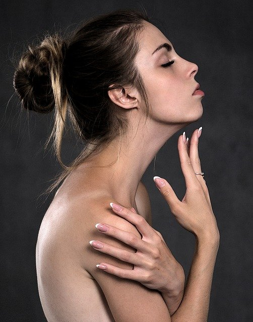 Girl, The Bathroom, Portrait, Hands, Body, Beauty
