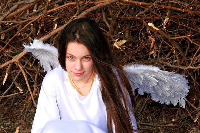 Girl, Angel, Wings, White, Beauty