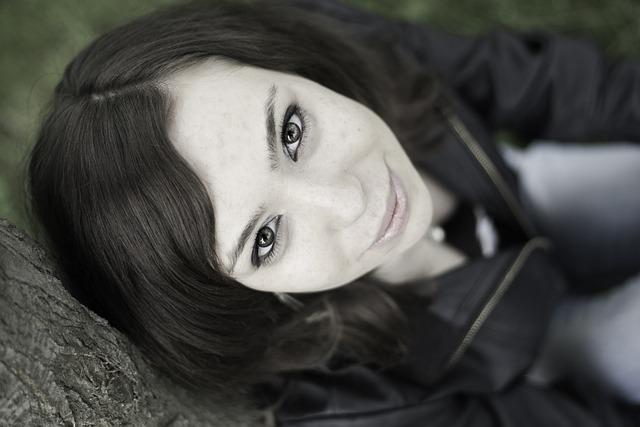 Portrait, Eyes, Woman, Face, Beauty, Looking Up, Girl