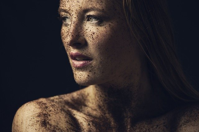 Beauty, Closeup, Art, Portrait, Woman, Young, Dirty