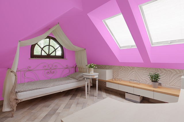Pink, Room, Bed, Home, Interior, Design, Wall