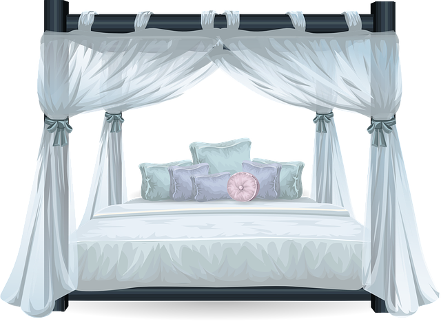 Bed, Four Poster, Luxury, Bedroom, Four-poster