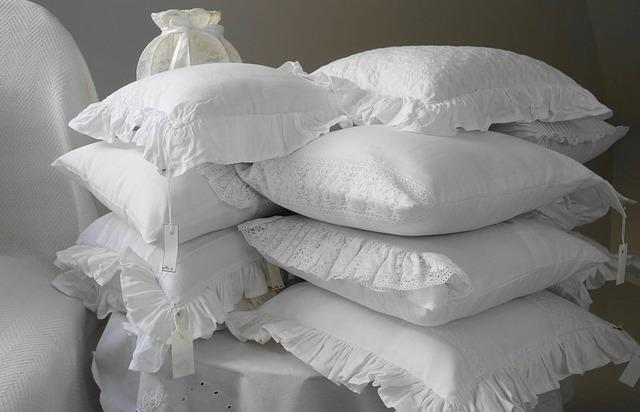 Pillow, Pillows, The Scenery, Bedroom, White, Frill