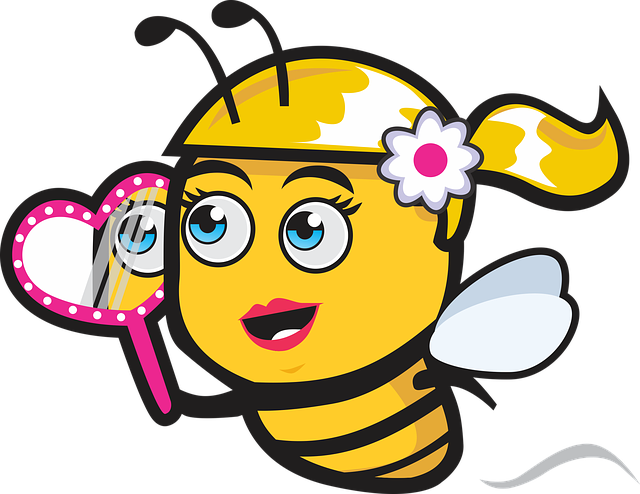 Bee, Icon, Logo, Cartoon, Beautiful, Cute, Pretty