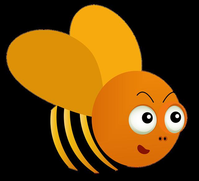 Bee, Honey, Sweet, Cartoon, Honey Bee, Insect, Nature