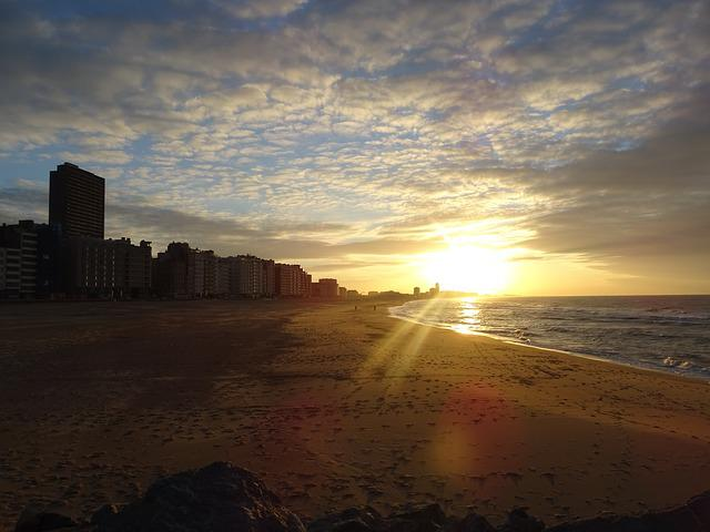 Oostende, Bee, Sunset