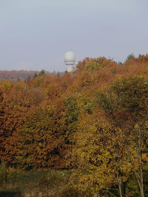 Radar Station, Bánkút, Beech Mountain, Autumn Forest