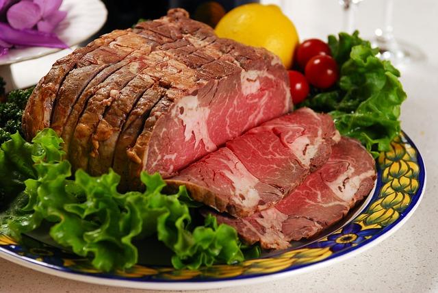 Beef, Roast Beef, Lump, Chunk, Meat, Vegetables, Lemon