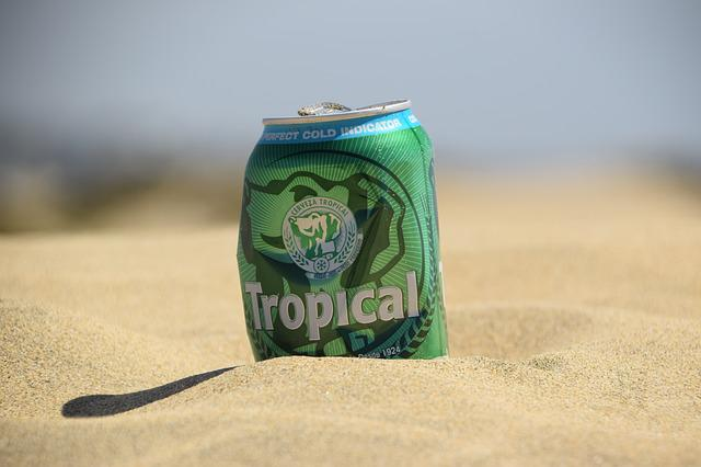 Beer, Beer Can, Beach, Sand, Tropical, Alcohol, Dune