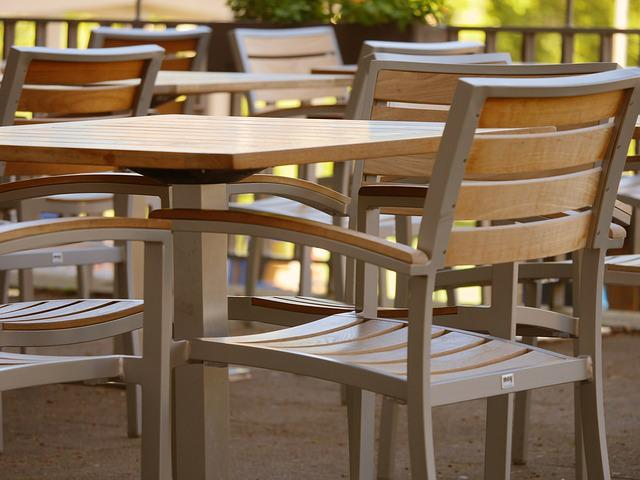 Beer Garden, Chairs, Dining Tables, Gastronomy, Out
