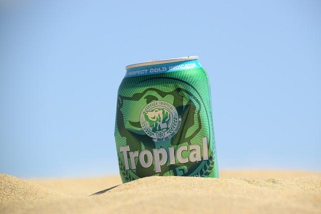Beer, Beer Can, Sand, Beach, Desert, Gran Canaria