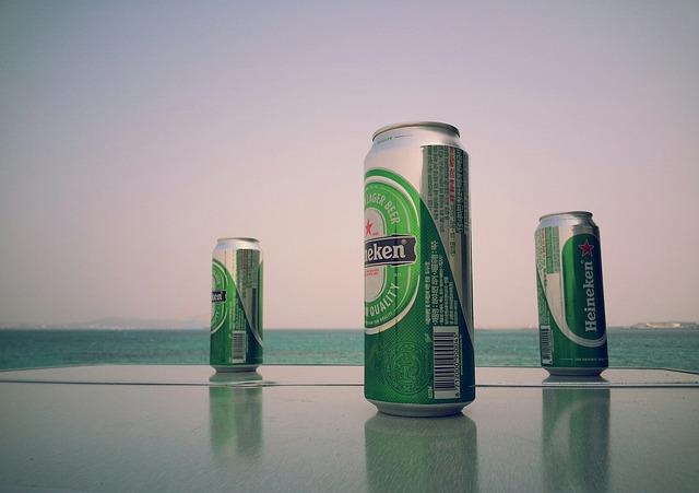 Heineken, Beer, Cans, Sea