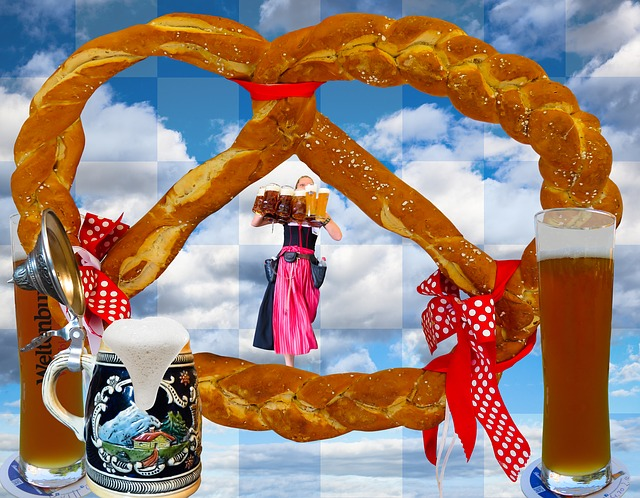 Breze, Pretzel, Beer, Wheat Beer, Bavaria, Munich