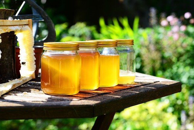 Honey, Jars, Harvest, Bees, Frame, Garden, Crop, Golden