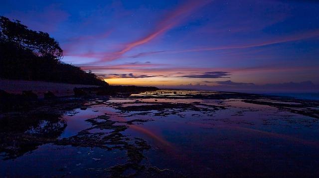 Before Sunrise, Sawarna Coast, Java, Indonesia, Blue
