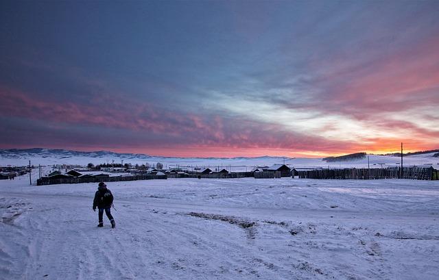 Winter, Before Sunrise, Bogart Village, Coldness