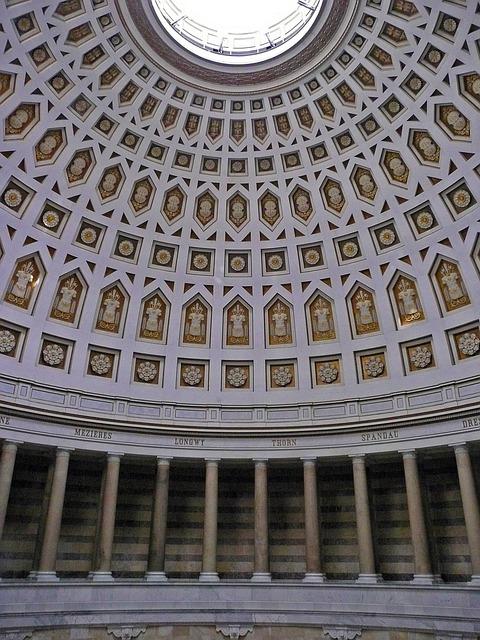 Round Ceiling, Artful, Befreiungshalle, Kelheim