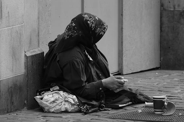 Begging, Woman, Poverty, Alms, Beggar, Old Woman