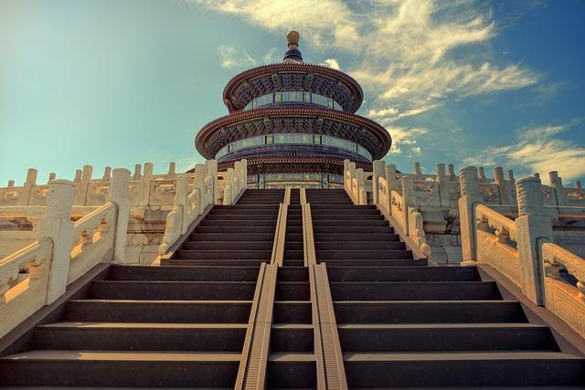 Temple Of Heaven, Beijing, Stairs, Temple, Landmark